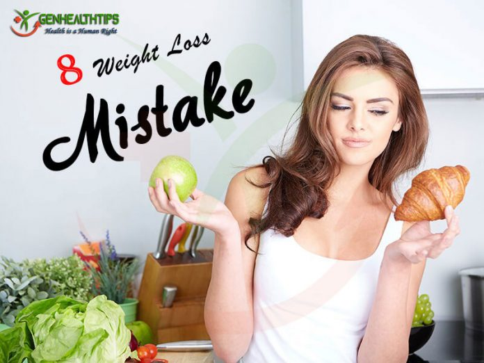 8 Weight Loss Mistakes, Genmedicare, Genhealthtips