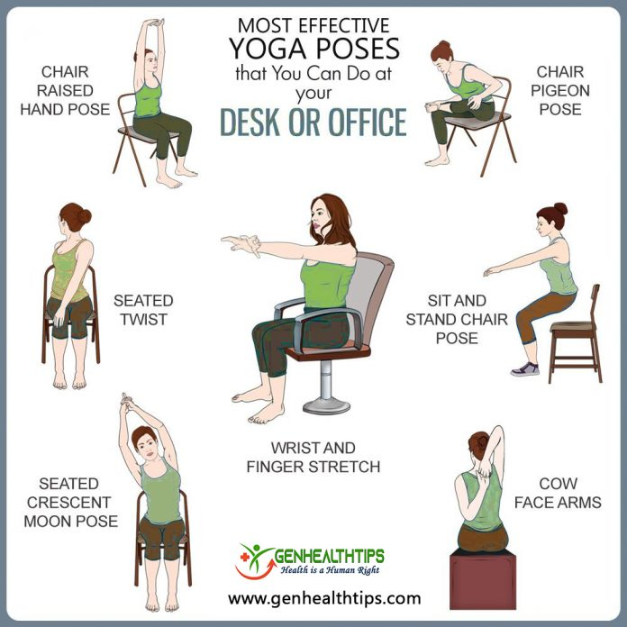chair yoga poses, genhealthtips, Genmedicare
