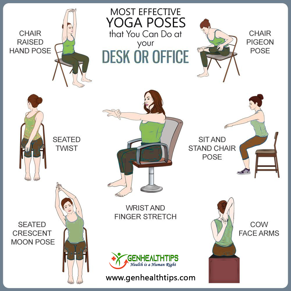 8 Chair Yoga Poses You Can Do In Your Desk Chair Genhealthtips